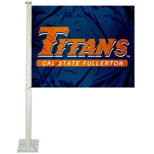 Cal State UCSF Fullerton Titans Car Flag