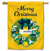 California Irvine Eaters Christmas Holiday House Flag