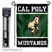 California Polytech State University Garden Flag and Yard Pole Holder Set