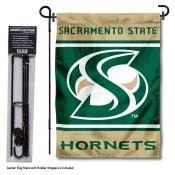 California State University Sacramento Garden Flag and Yard Pole Holder Set