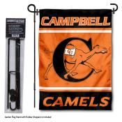 Campbell University Garden Flag and Yard Pole Holder Set