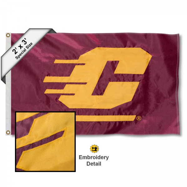 Central Michigan Chippewas Embroidered 2x3 Foot Flag