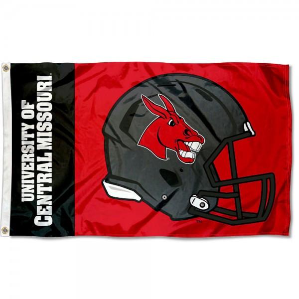 Central Missouri Mules Helmet Flag