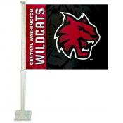 Central Washington Wildcats Car Flag