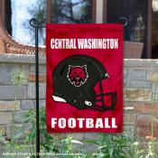 Central Washington Wildcats Football Garden Flag