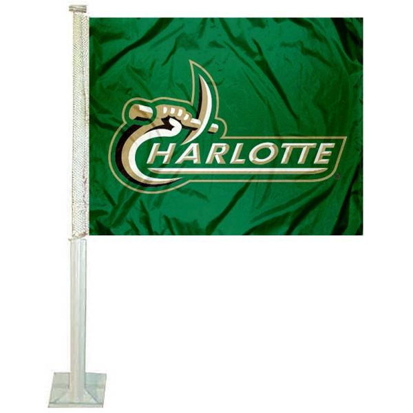 Charlotte 49ers Wordmark Car Flag