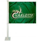 Charlotte 49ers Wordmark Car Flag