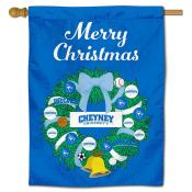 Cheyney University Wolves Christmas Holiday House Flag