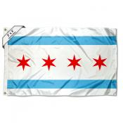 Chicago City 2x3 Foot Flag