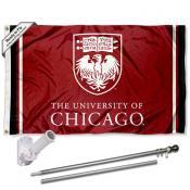 Chicago Maroons Flag and Bracket Flagpole Kit