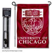 Chicago Maroons Garden Flag and Yard Pole Holder Set