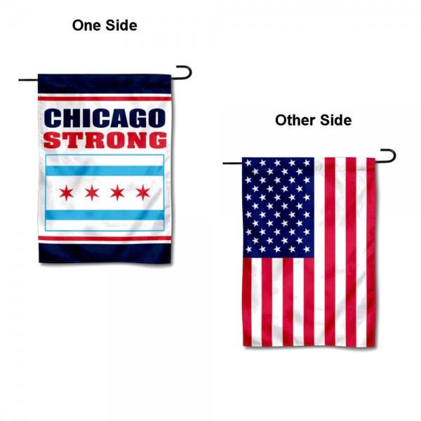 Chicago Strong Yard Garden Banner