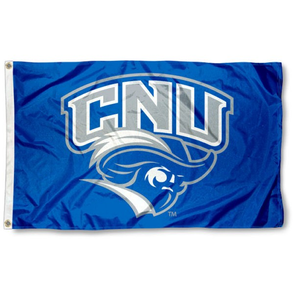 Christopher Newport Captains Logo Flag