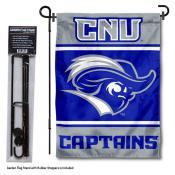 Christopher Newport University Garden Flag and Yard Pole Holder Set