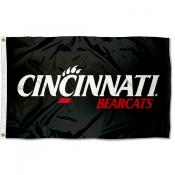 Cincinnati Bearcats Black Flag