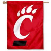 Cincinnati Bearcats Double Logo Banner Flag