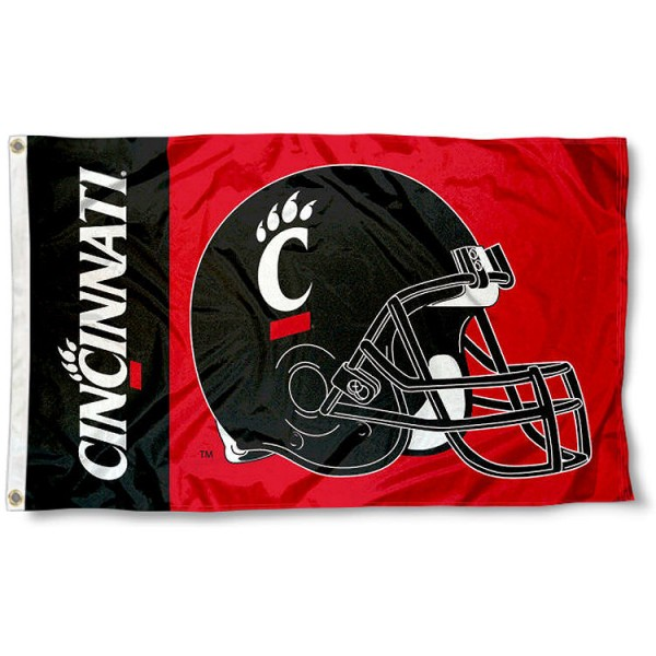 Cincinnati Bearcats Football Helmet Flag