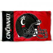 Cincinnati Bearcats Football Helmet Flag