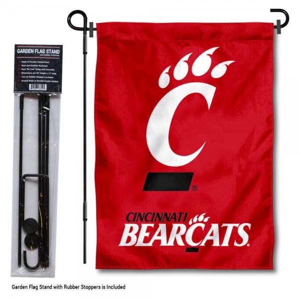 Cincinnati Bearcats Garden Flag and Holder