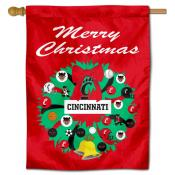 Cincinnati Bearcats Holiday House Flag