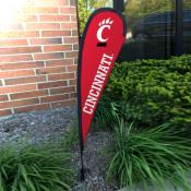 Cincinnati Bearcats Mini Teardrop Garden Flag