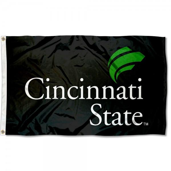 Cincinnati State Surge Logo Flag