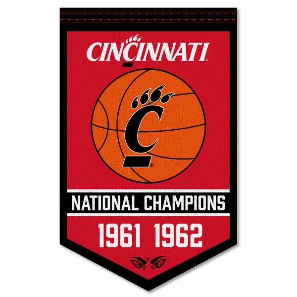 Cincinnati UC Bearcats College Basketball National Champions Banner