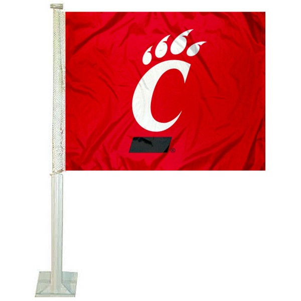 Cincinnati UC Bearcats Red Car Flag