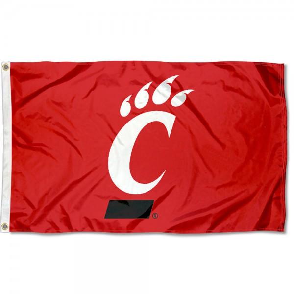 Cincinnati UC Bearcats Red Logo 3x5 Foot Flag