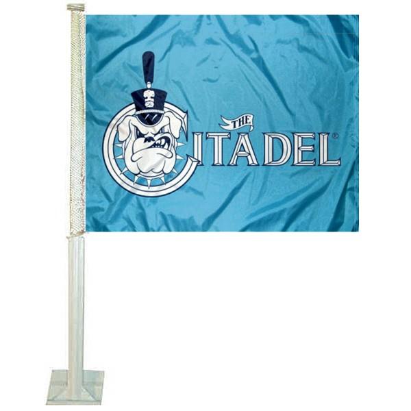 Citadel Bulldogs Car Flag