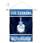Citadel Bulldogs Window Hanging Banner with Suction Cup