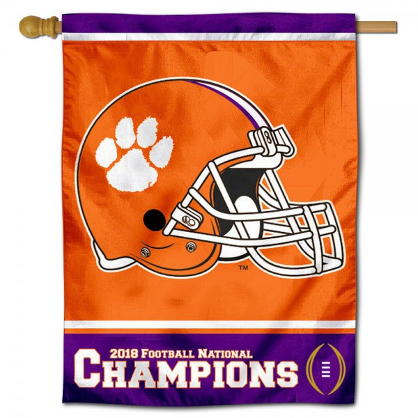 Clemson 2018 College Football Champions House Flag