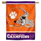Clemson 2018 College Football Champions House Flag