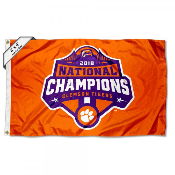 Clemson 2018 National Champions 4'x6' Flag