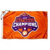 Clemson 2018 National Champions 4'x6' Flag