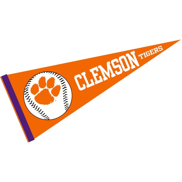 Clemson Baseball Pennant