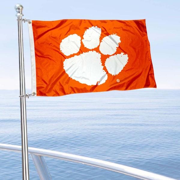 Clemson Boat Flag