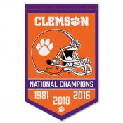 Clemson College Football National Champions Banner