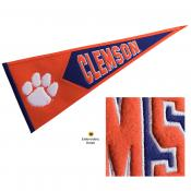 Clemson Embroidered Wool Pennant