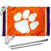 Clemson Flag and Bracket Flagpole Kit