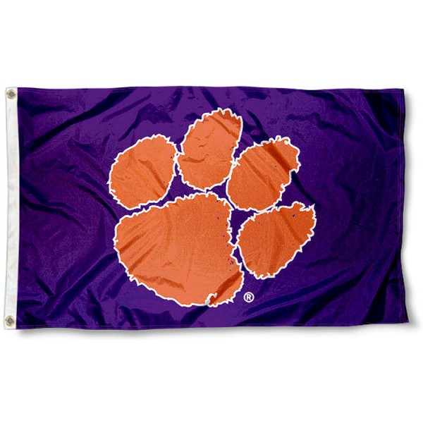 Clemson Flag - Purple