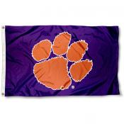 Clemson Flag - Purple