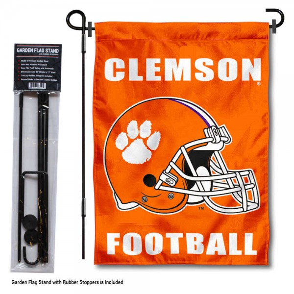 Clemson Football Garden Flag and Holder