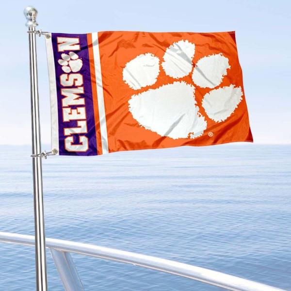 Clemson Logo Nautical and Golf Cart Flag