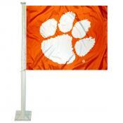 Clemson Orange Car Flag