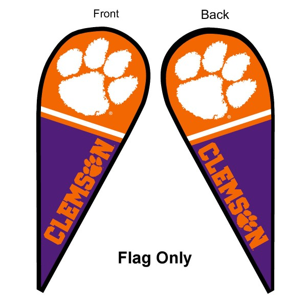 Clemson Teardrop Flag