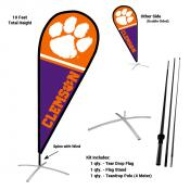 Clemson Teardrop Flag and Stand Kit