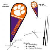 Clemson Teardrop Flag and Stand Kit