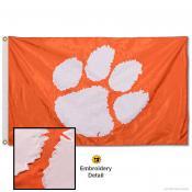 Clemson Tigers Appliqued Sewn Nylon Orange Flag
