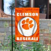 Clemson Tigers Baseball Garden Flag